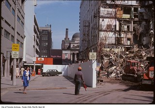 Demolition of Eaton's Queen and Yonge department store