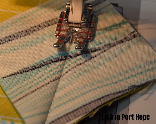 Sew for stitch and flip method