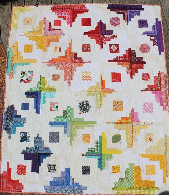 Converging Corners Rainbow Quilt