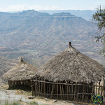 Huts in the Hills near Lalibela, Ethiopia