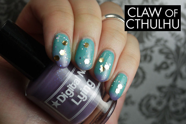 Digital Nails Lying Swatch (with OPI When Monkeys Fly!)