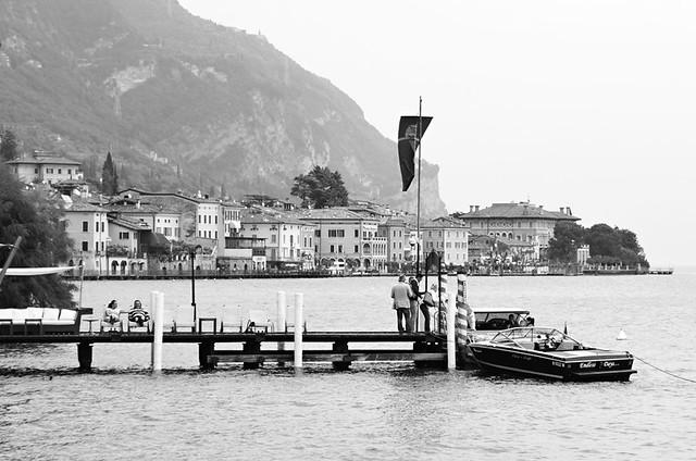 Jetty, Hotel Baia d'Oro, Gargnano, Lake Garda, Italy