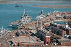 Portsmouth Harbour - HMS Illustrious and Defender docked