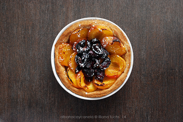 Apricot cherry single tart