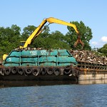 Scrap Barge, Hutchinson River, Eastchester, Bronx, New York City