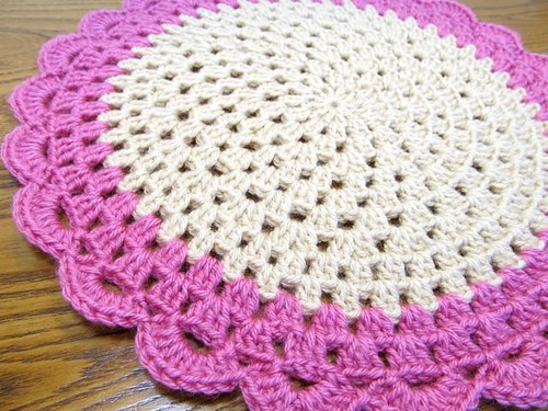 Dip-Dyed Doily 2
