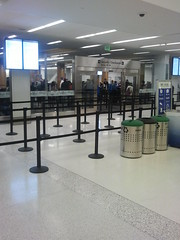 SFO Terminal 2 security checkpoint