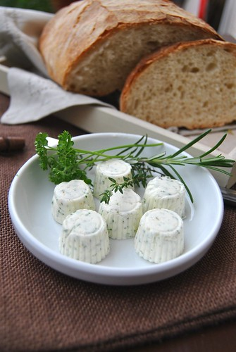 Pane di Genzano and Herb butter