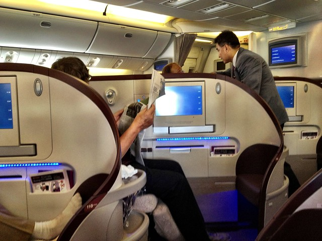 Thai Airways Business Class cubicles
