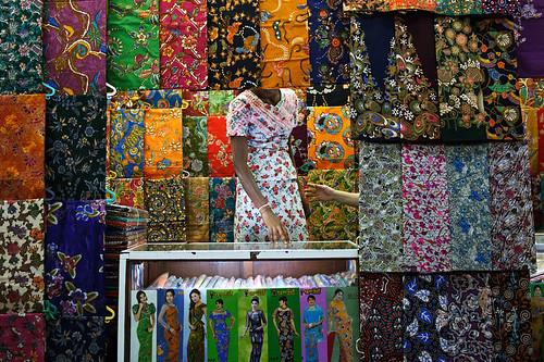 Fabric Store - Yangon, Myanmar by Maciej Dakowicz