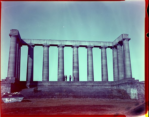 Calton Hill, Crown Graphic - Kodak Vericolor 4111