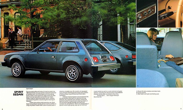1982 AMC Spirit Sedan brochure page