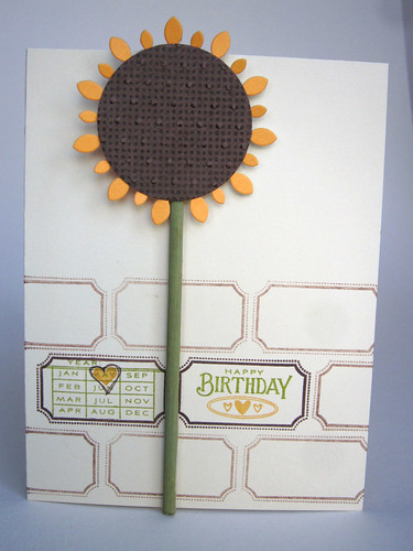 Sunflower Birthday Card PTI Vine Border Die