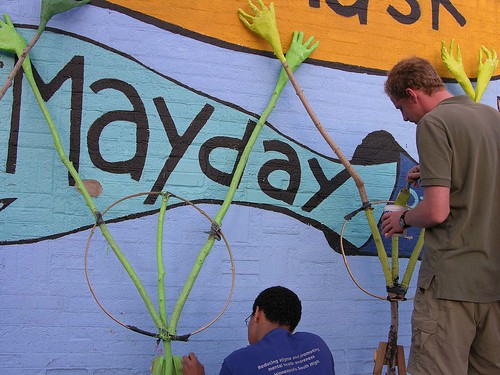 MayDay 2012 painting the 38 trees