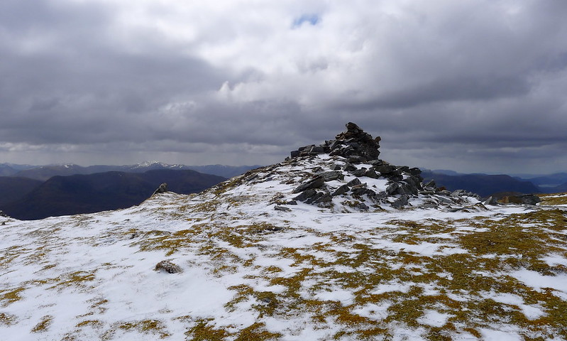 Summit cairn of Lurg Mhor