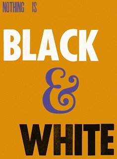 Nothing is black & white orange/Purple edition