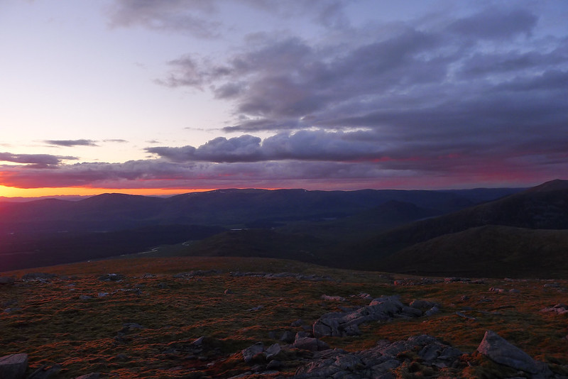Sunset skies over Creag Meagaidh