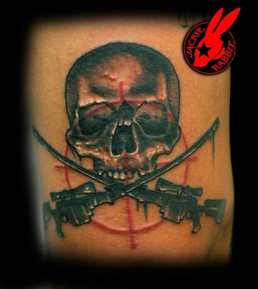 Sniper Skull Tattoo Sniper Skull Tattoo by Jackie