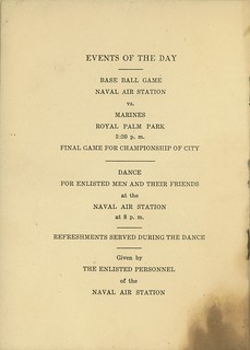 Memorial Day Menu and Program, 1919, Page 3 of 3