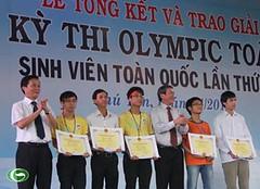 Trưởng Ban Tuyên giáo Trung ương Đinh thế huynh dự lễ tổng kết kỳ thi Olympic Toán sinh viên toàn quốc lần thứ XX