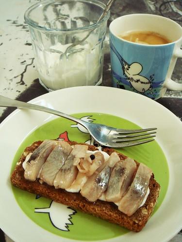 Breakfast: Fage from Greece, Pickled Herrings