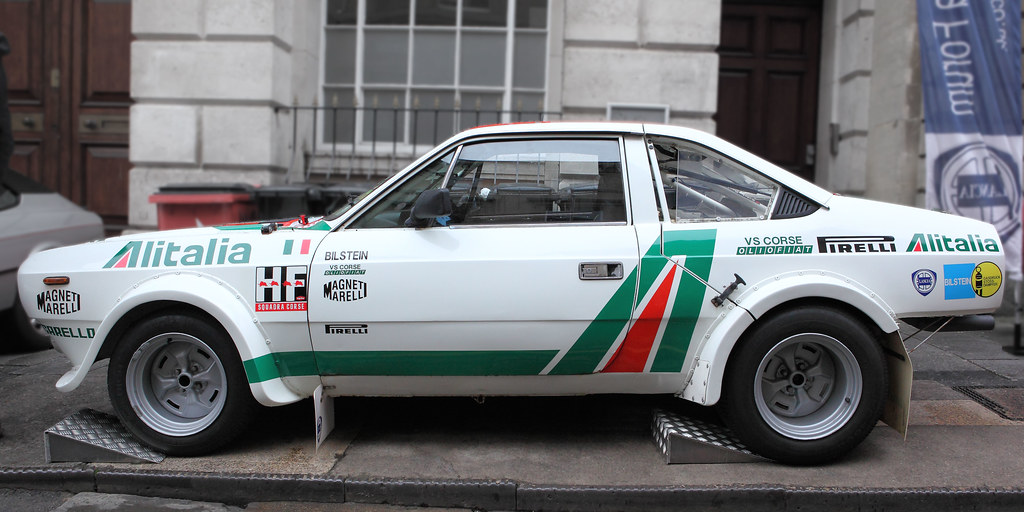 lancia beta s2 rallye 'alitalia', profile view, c1979 | flickr