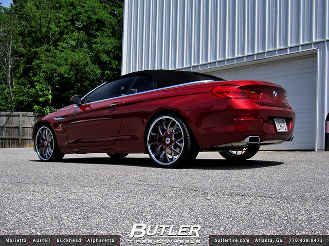 BMW 650i Convertible with 22in Asanti DA174 Wheels