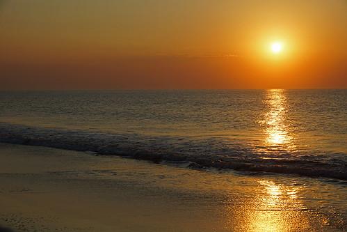 無料写真素材, 自然風景, 海, 朝焼け・夕焼け, 風景  アメリカ合衆国