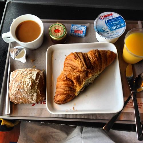 Swiss Train breakfast