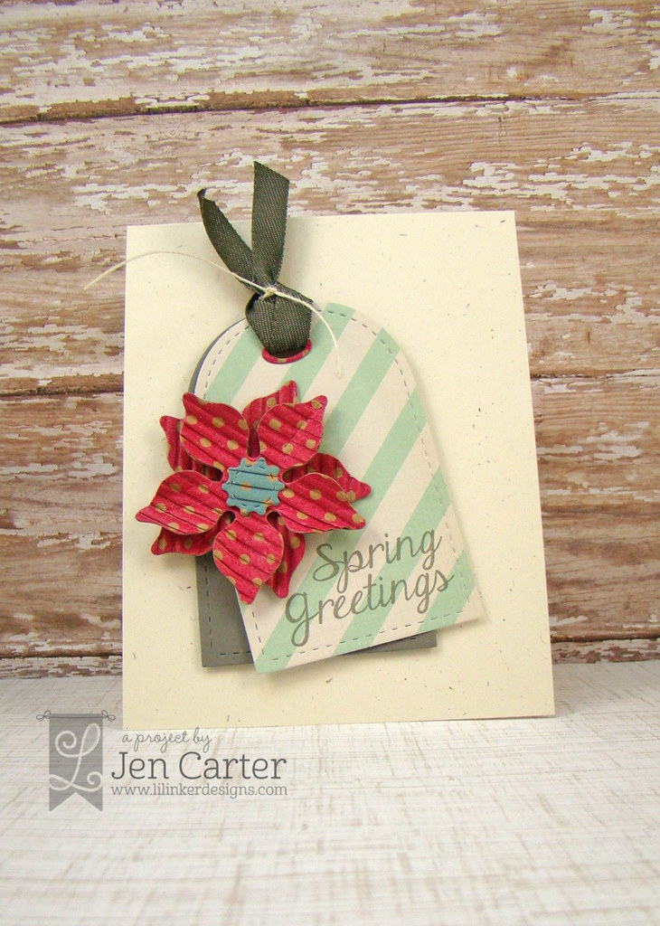 Spring Greetings Tag Card