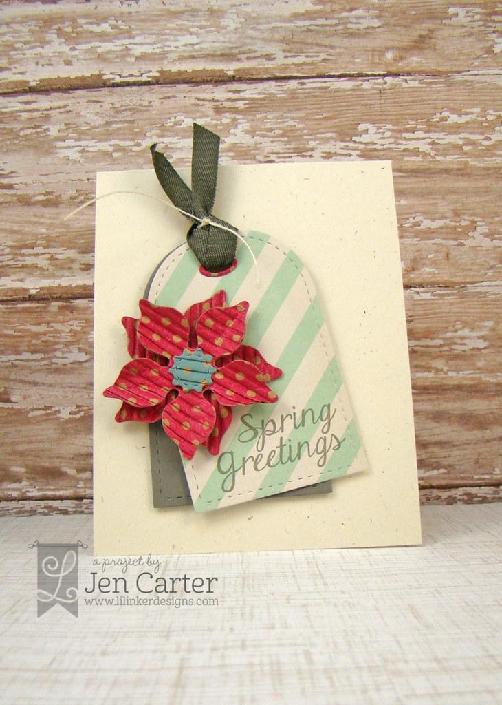 Spring Greetings Tag Card