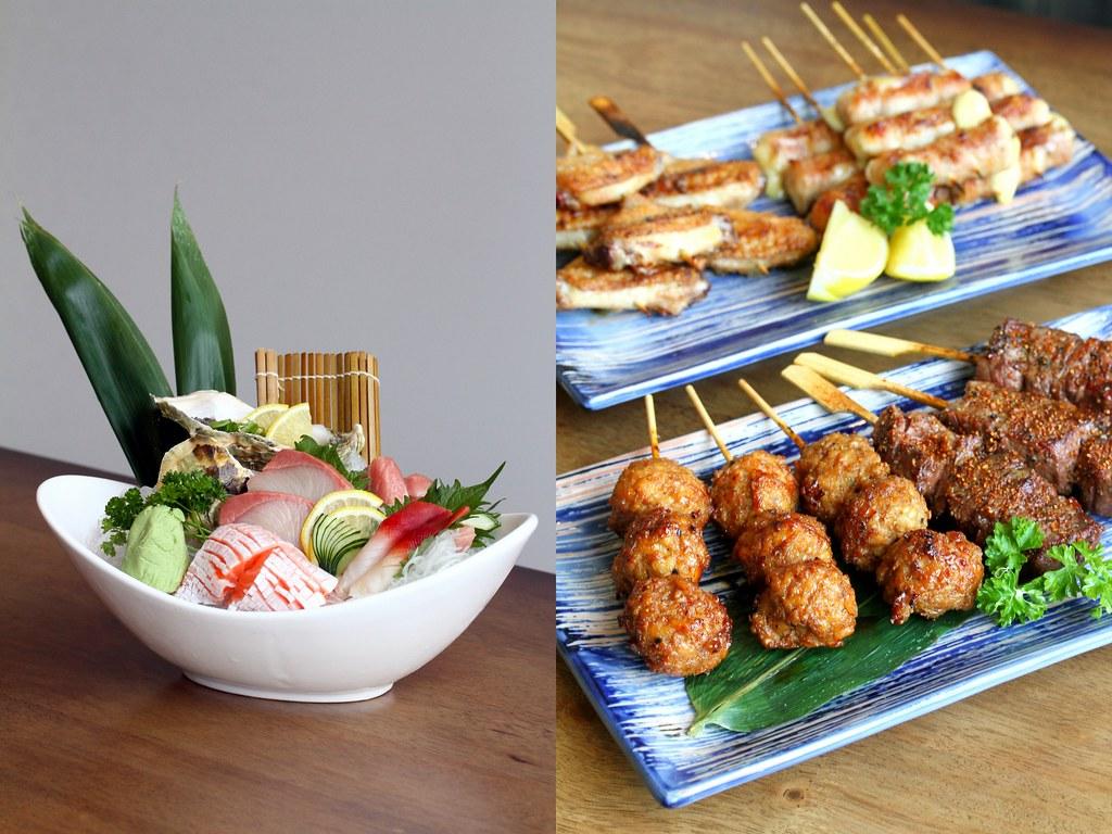 JEM Food Trail: Shin Kushiya's Sashimi Moriawase & Tsukuna or Chicken Meat Balls