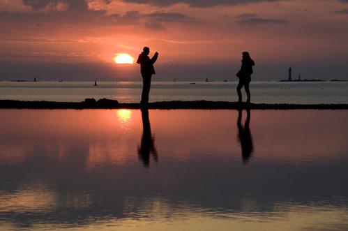 Saint-Malo : une photo au coucher de soleil
