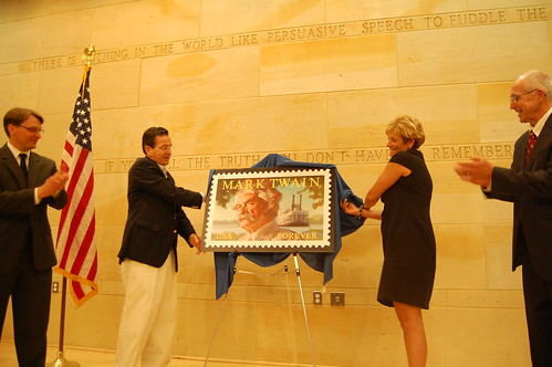 Mark Twain stamp unveiling - 25 June 2011