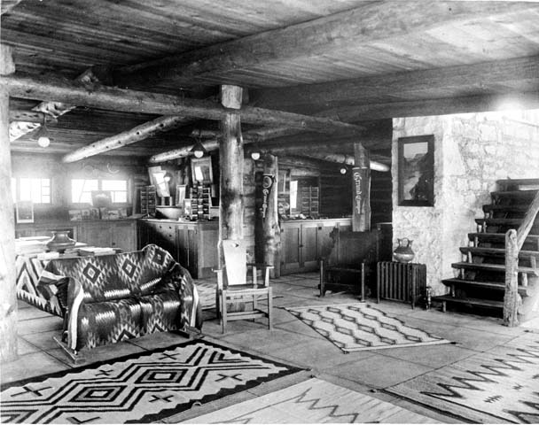 11823 Grand Canyon Historic Lookout Studio Interior c. 1915