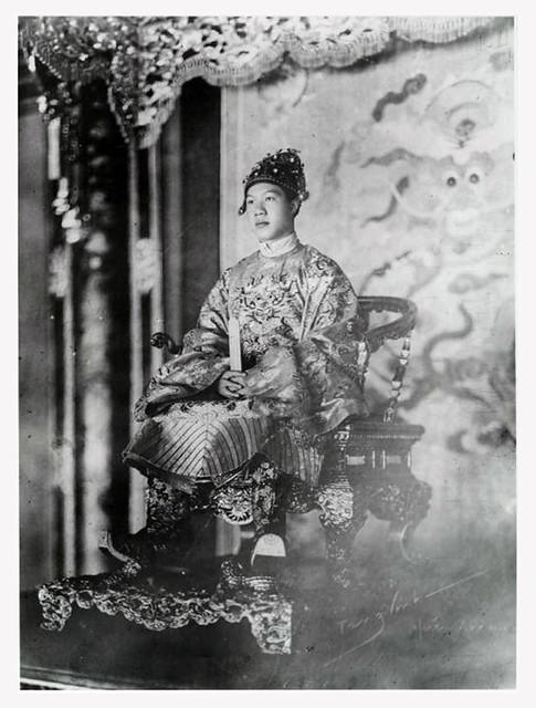 Hue 1928 - Sa Majesté Bao Dai empereur d'Annam