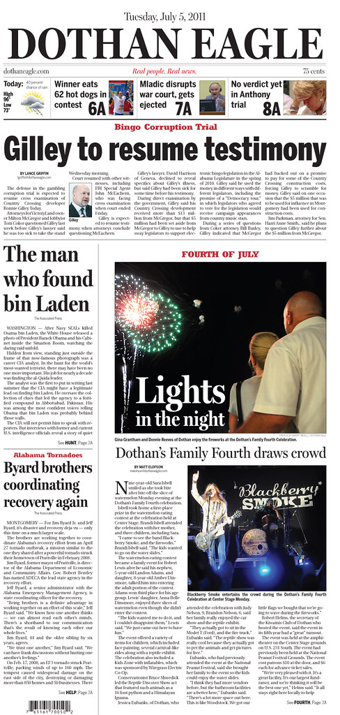 Fourth of July Dothan Eagle design | My design of the Fourth