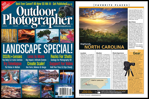 Outdoor Photographer Magazine Cover and Feature!