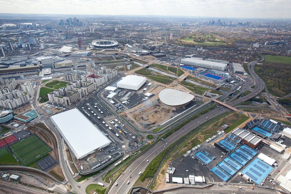 120416 LOCOG Aerials_041 | Aerial view of the Olympic Park l