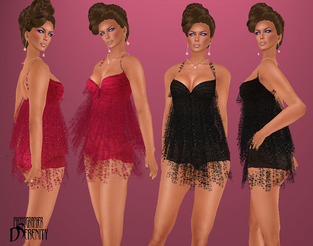 SLC Couture Fringe Cocktail Dress