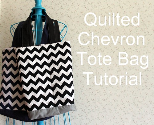 Quilted Chevron Tote Bag tutorial