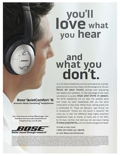 Bose magazine ad