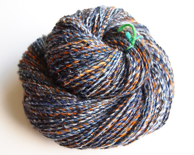 SCF-fiber club April 2012-Shipwreck & Longest Night cabled yarn-279yds-