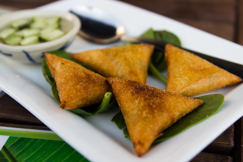 Thai Samosa at Smiling Banana Leaf