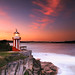 Hornby Lighthouse at Sunset