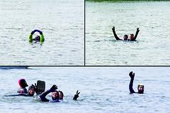 Anschwimmen Rheinufer 15.04.12