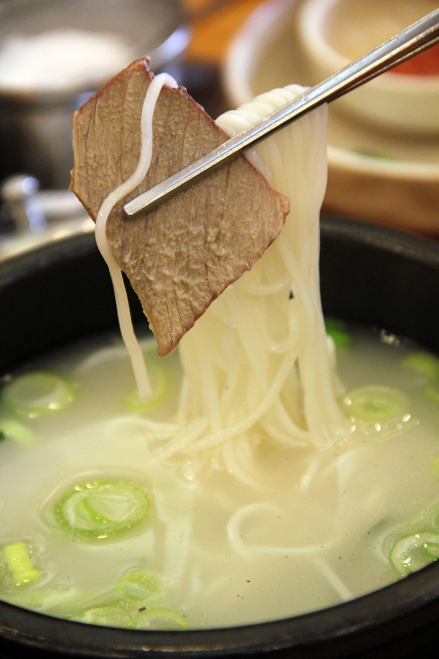 Korean ox bone soup