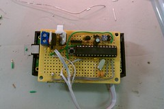 breadboard(1.0), circuit component(1.0), microcontroller(1.0), electrical wiring(1.0), electronics(1.0),