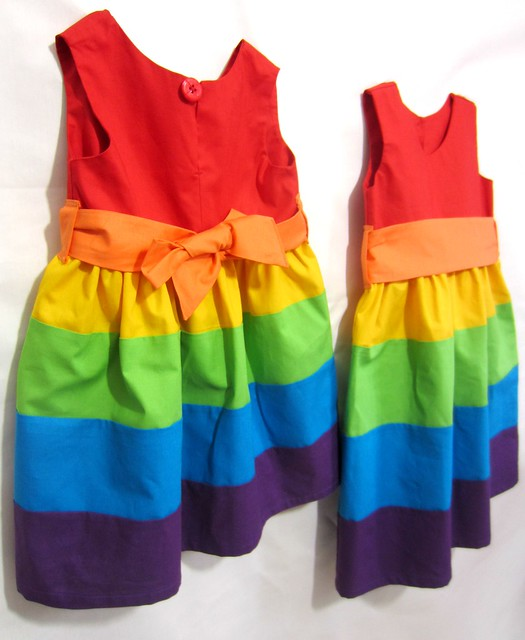 rainbow party frocks back