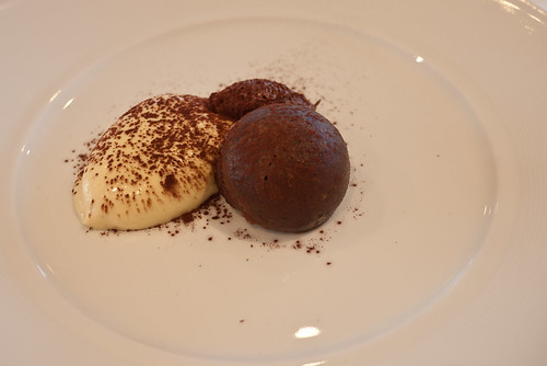 Deconstructed tiramisu at The Source, Mona